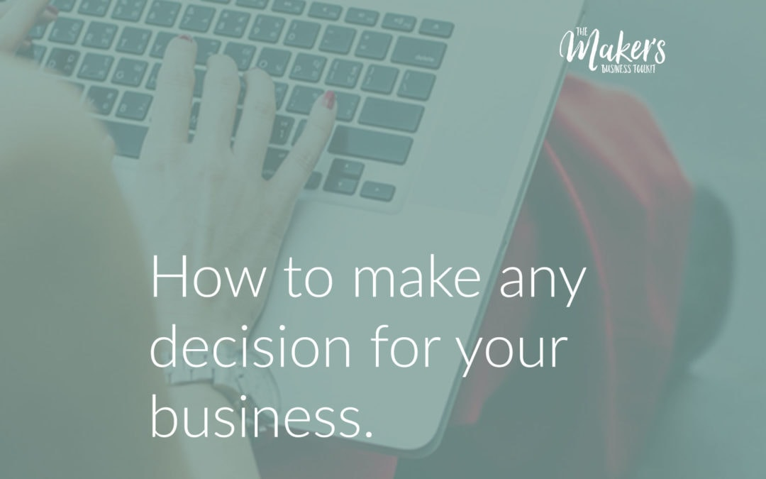 How to make any decision for your business